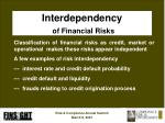 interdependency of financial risks