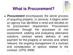 what is procurement5