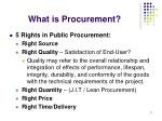 what is procurement9