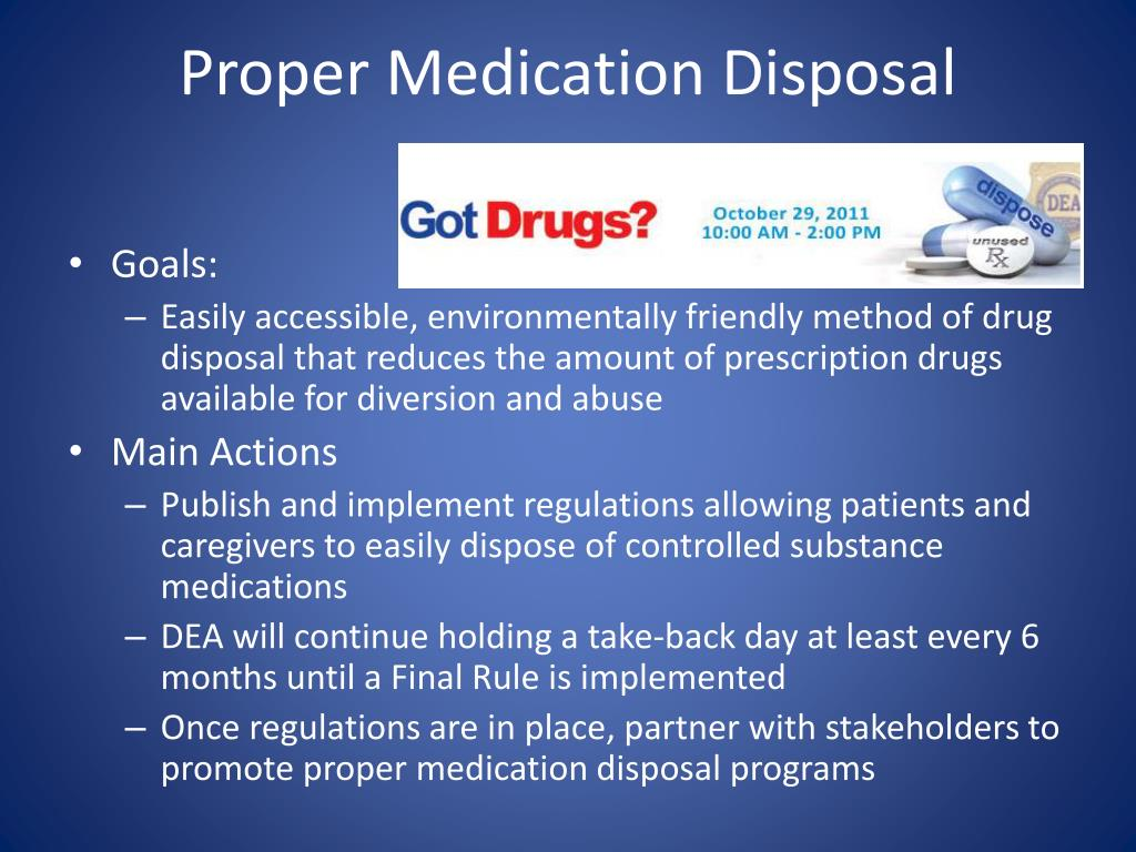 Proper Medication Disposal