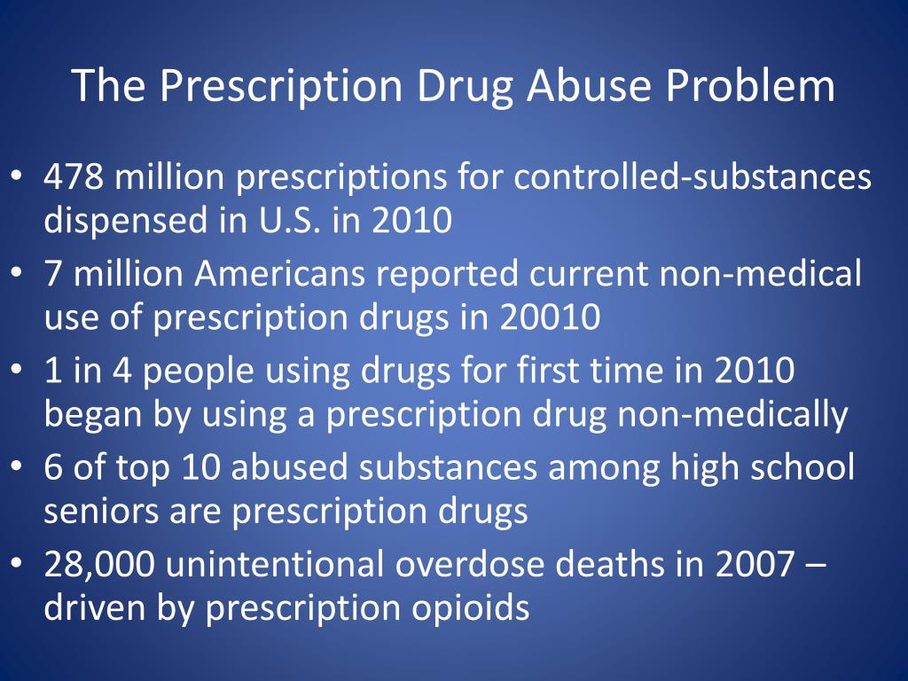 The Prescription Drug Abuse Problem