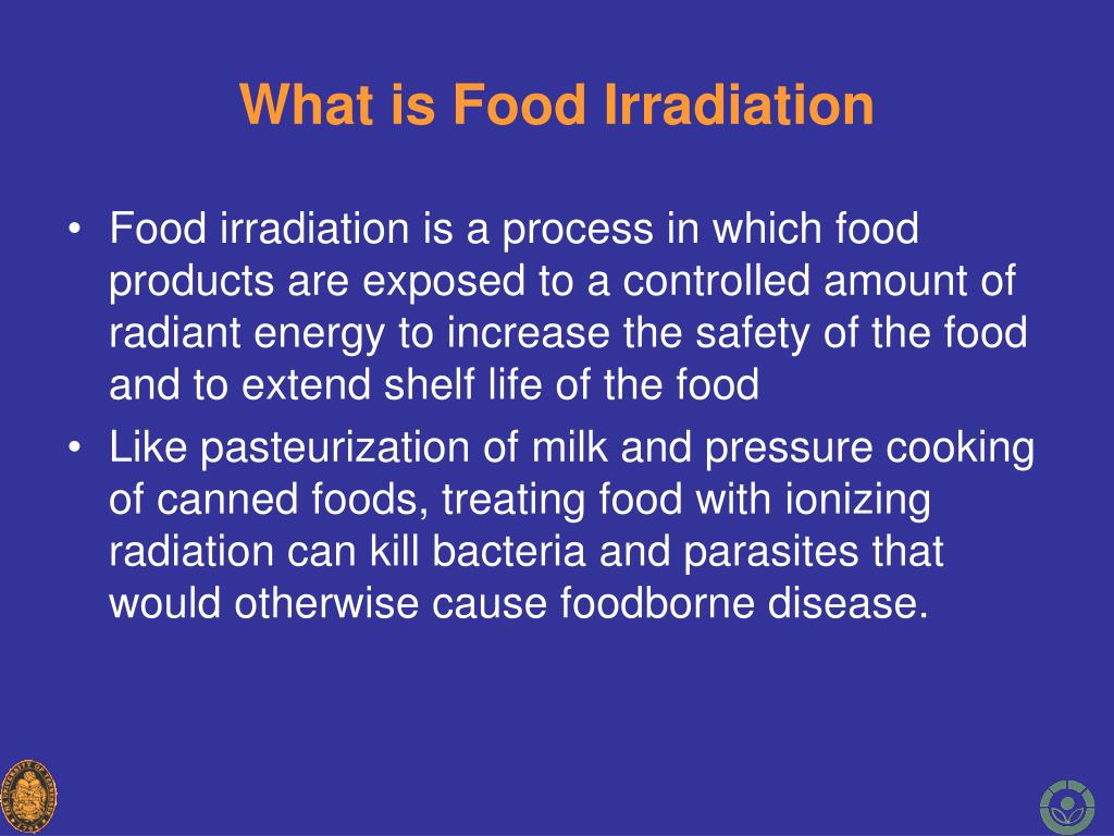what is food irradiation l.