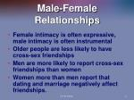 male female relationships