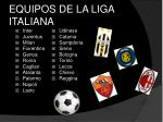 equipos de la liga italiana