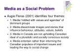 media as a social problem