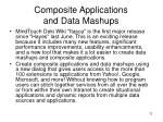 composite applications and data mashups