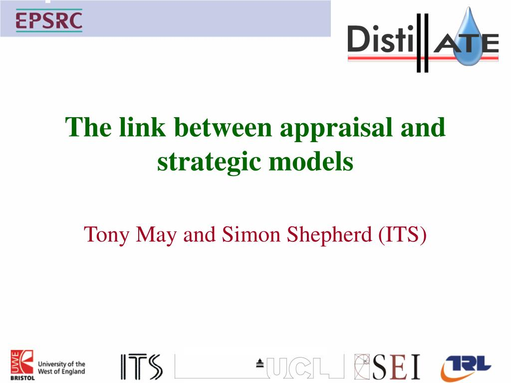 the link between appraisal and strategic models l.