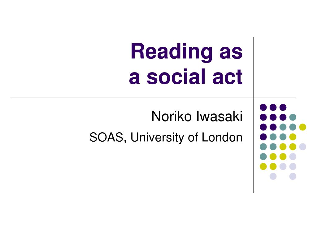 reading as a social act l.