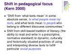 shift in pedagogical focus kern 2000