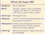 history 3 august 2001