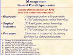 management sinistral portal hypertension