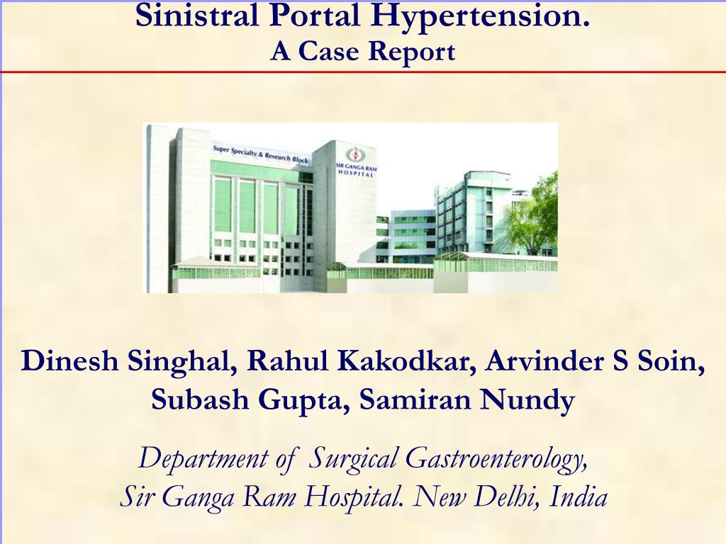 sinistral portal hypertension a case report l.