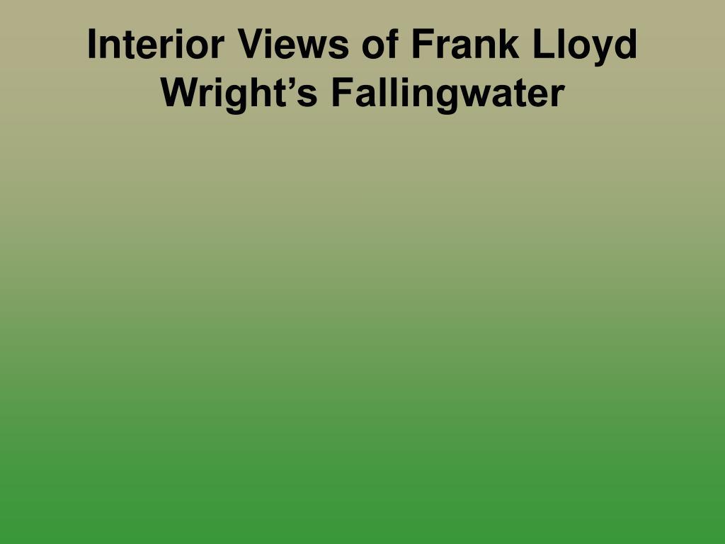 interior views of frank lloyd wright s fallingwater l.