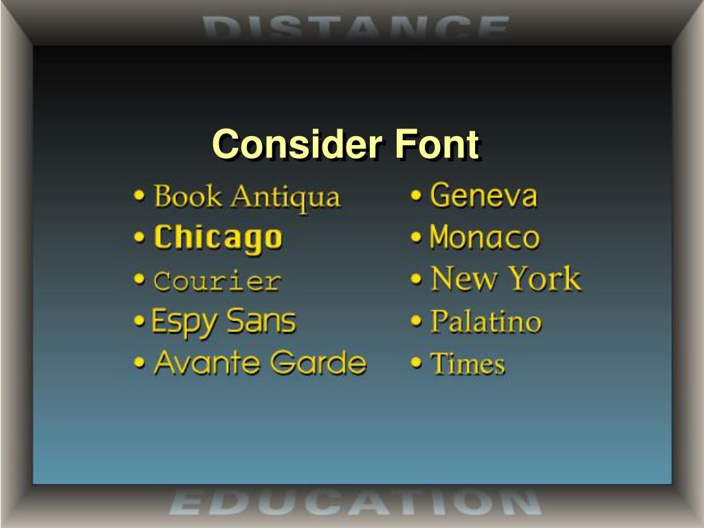 Consider Font