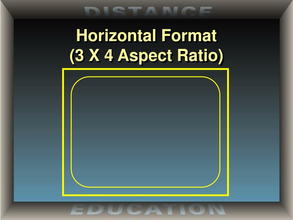 Horizontal Format