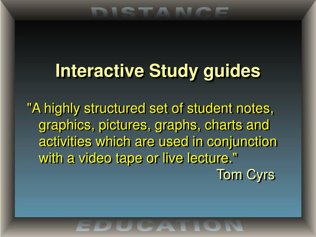 Interactive Study guides