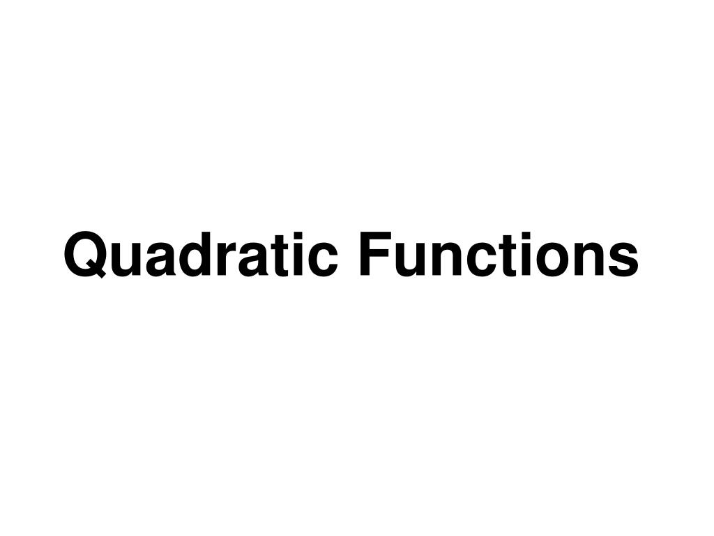 quadratic functions l.
