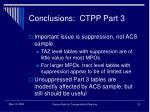 conclusions ctpp part 3