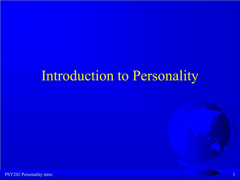 introduction to personality l.