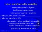 latent and observable variables