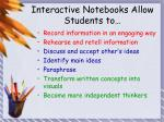 interactive notebooks allow students to