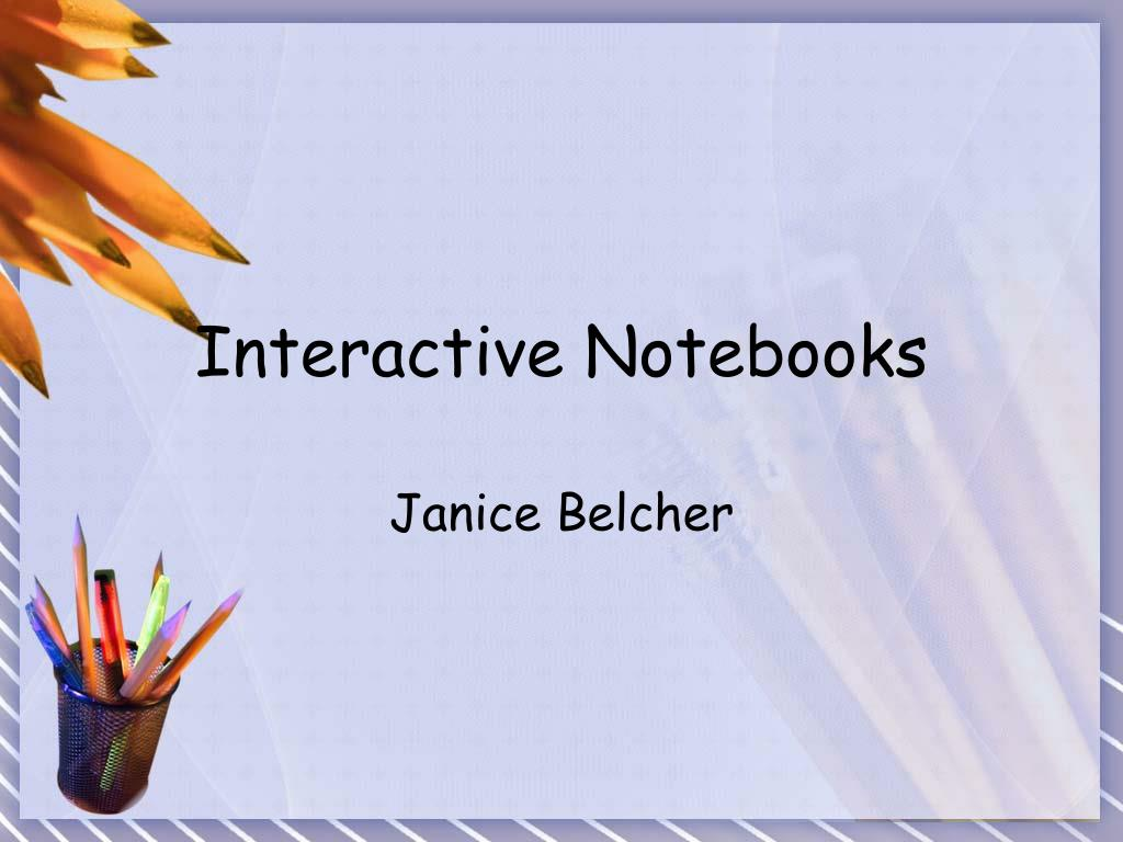 interactive notebooks l.