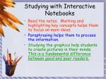 studying with interactive notebooks