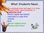 what students need