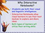 why interactive notebooks
