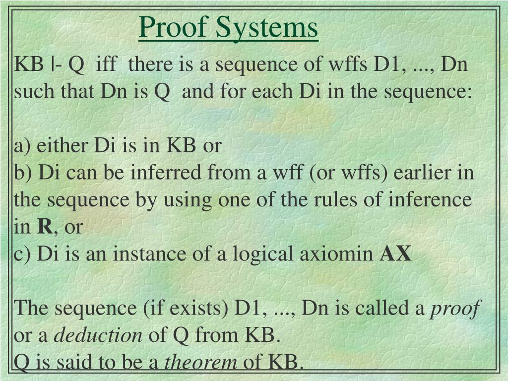 proof systems l.