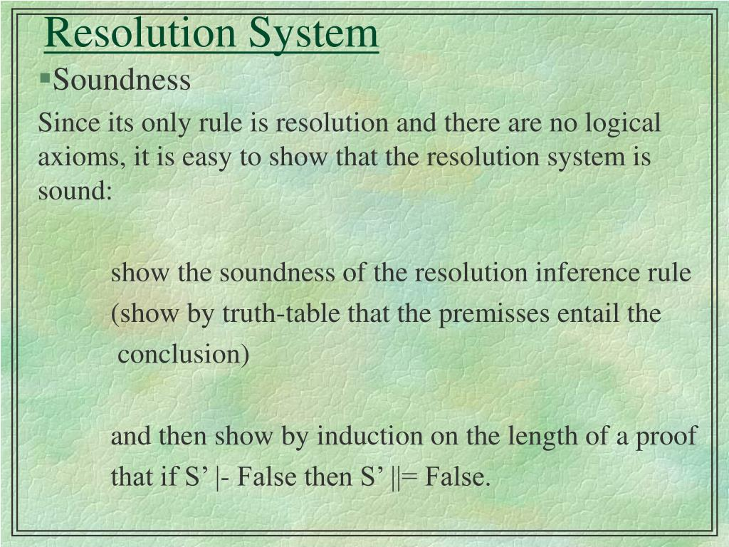 Resolution System
