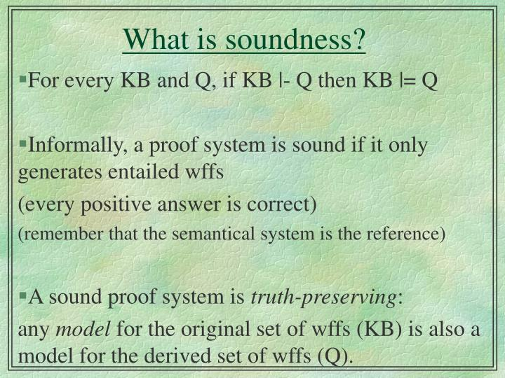 What is soundness