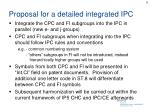 proposal for a detailed integrated ipc