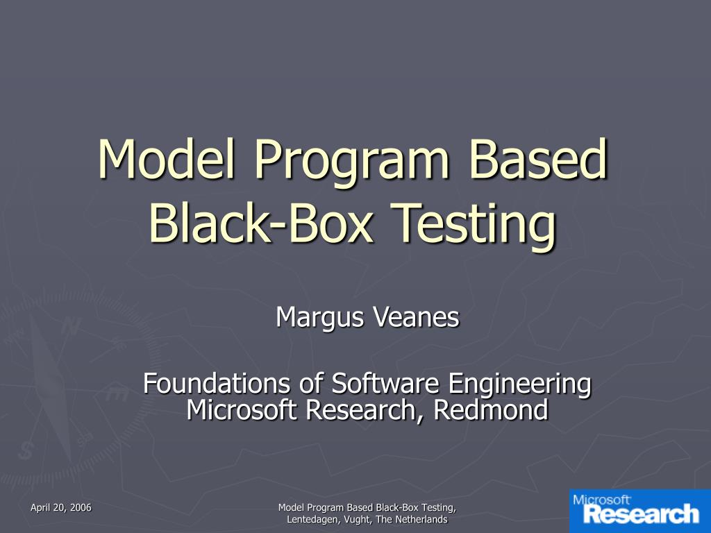 model program based black box testing l.