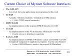 current choice of myrinet software interfaces