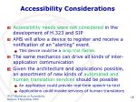 accessibility considerations