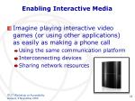 enabling interactive media