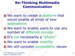 re thinking multimedia communication