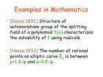 examples in mathematics