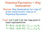 polynomial equivalence ring isomorphism