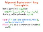 polynomial equivalence ring isomorphism1