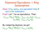 polynomial equivalence ring isomorphism3