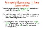 polynomial equivalence ring isomorphism5