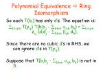polynomial equivalence ring isomorphism6