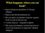 what happens when you eat food