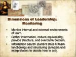 dimensions of leadership monitoring