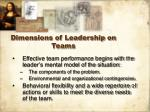 dimensions of leadership on teams8