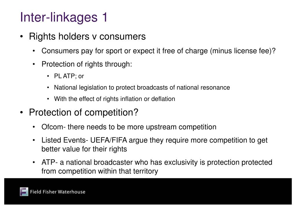 Inter-linkages 1