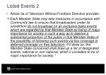 listed events 2