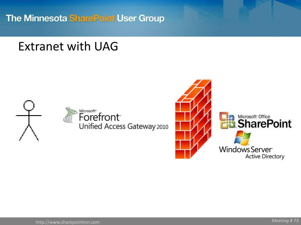 Extranet with UAG